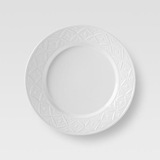 Loren Kaplan Salad Plates, Set of 4, White