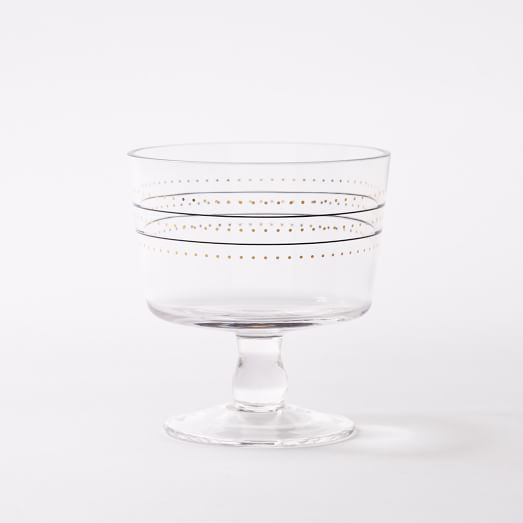 Fishs Eddy Gilded Cup, Striped Dots, Black/Gold