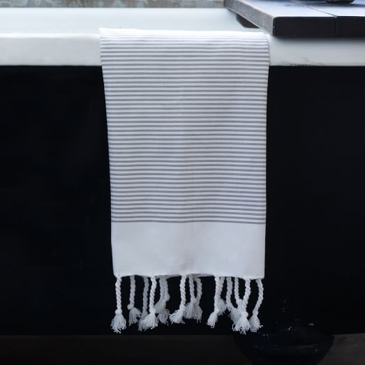 Blocked Stripe Hand Towel, 20