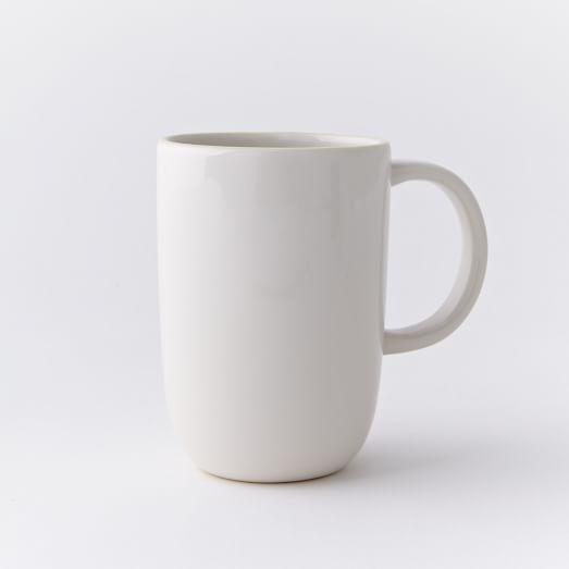 Brook Dinnerware, White, Mugs, Set of 4