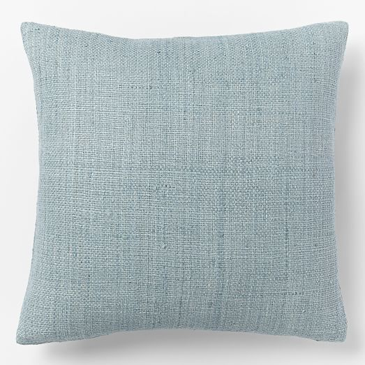 Silk Handloomed Pillow Cover, 20'x20', Light Pool