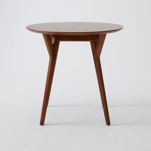 Mid-Century Bistro Table, Walnut