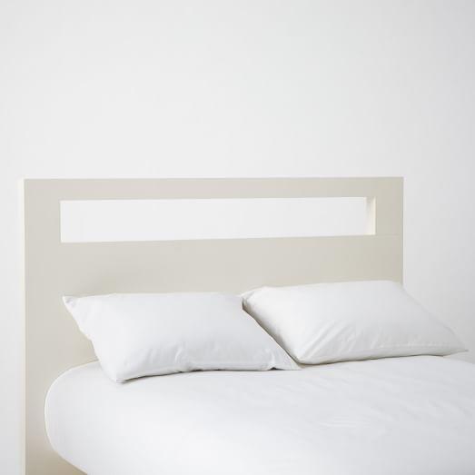 Tall Wood Cutout Headboard Twin, White