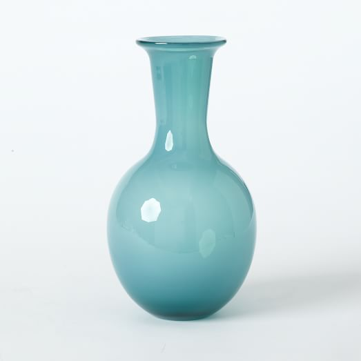 Flared Top Elongated Vase, Tidepool