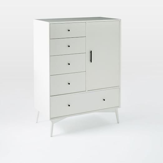 Mid-Century Chifforobe – White