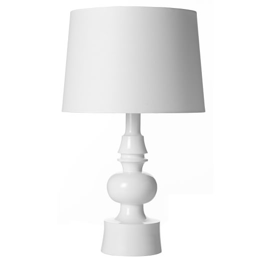 Turned Lamp, Glossy White