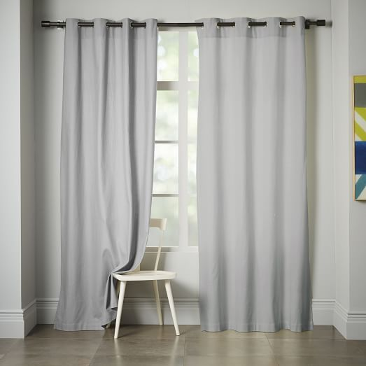 Opaque Linen Curtain With Grommets, 63