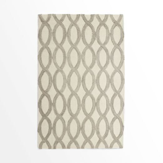 Linking Loops Rug, 3'x5', Ivory