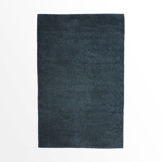 Steven Alan Solid Shag Rug, 3'x5', Blue lagoon