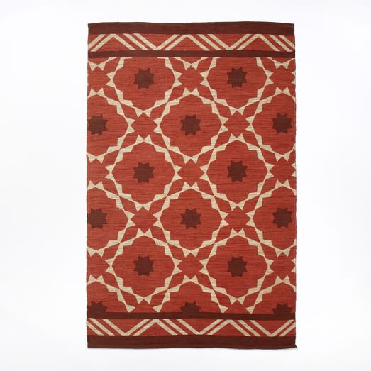 Fiesta Tile Printed Rug, 5'x8', Desert Sunset