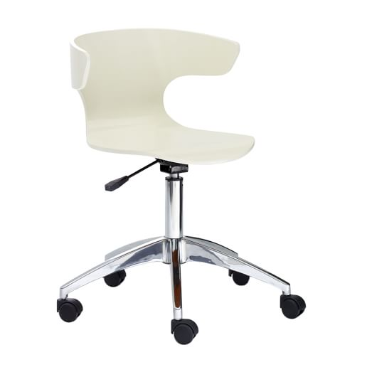 Wrap Office Seat, White
