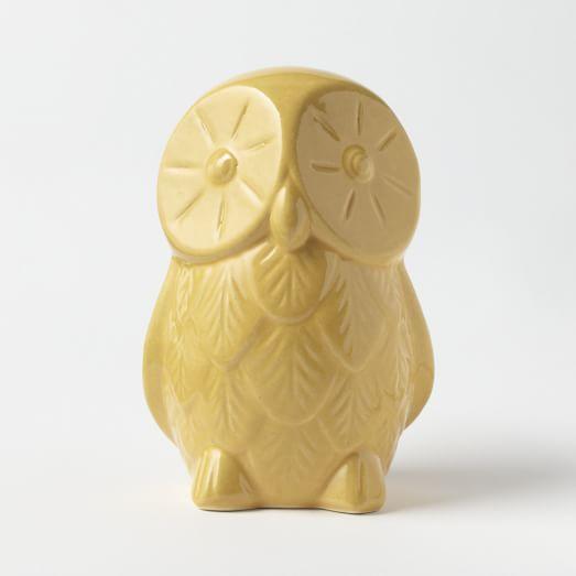 St. Jude Ceramic Owl, Large, Yellow