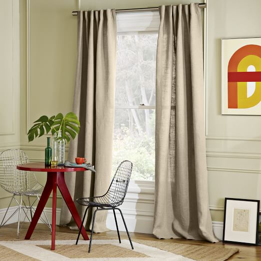 Belgian Linen Window Panel, 48
