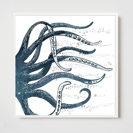 Framed Print, Octopus
