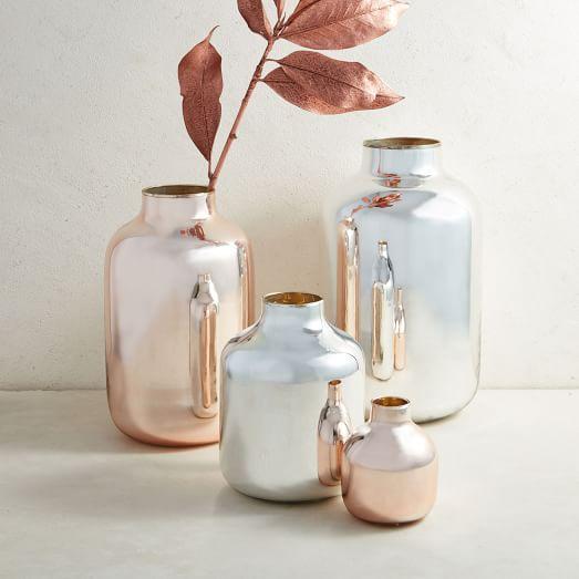 Pastel Mirror Vase, Small, Silver