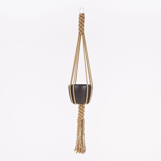 Yerbamala Designs Filament Plant Hanger, Mustard