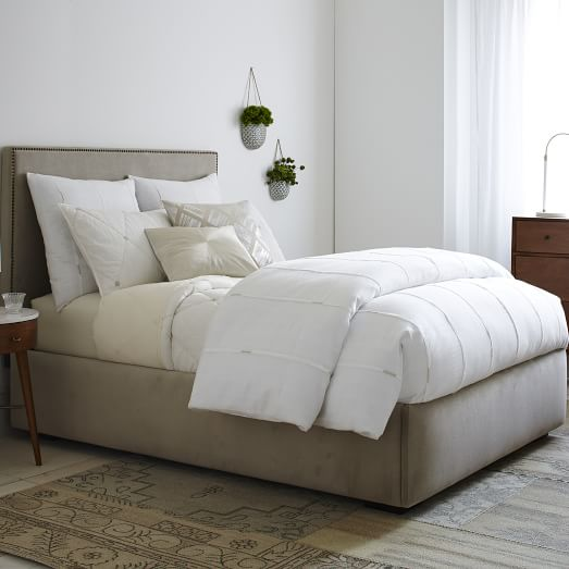 pivot storage bed frame stone west elm