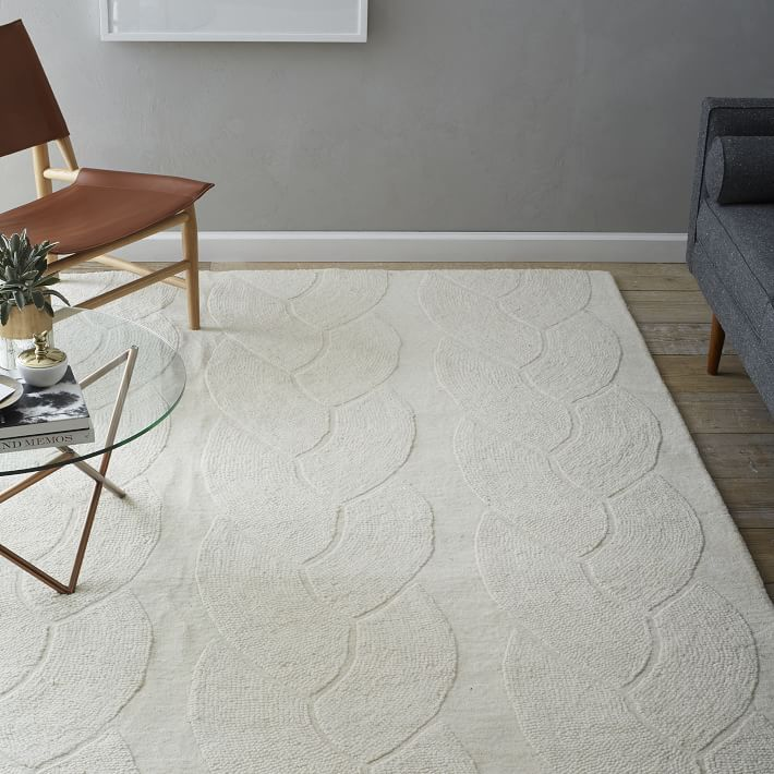 Braided Cable Wool Rug | West Elm