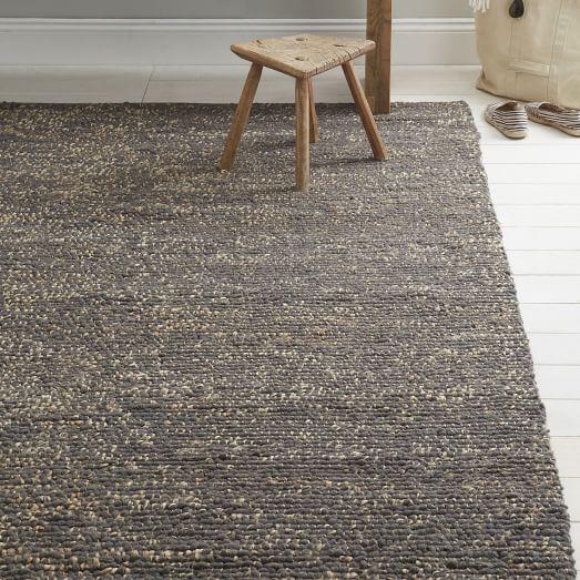 Mini Pebble Jute Wool Rug Slate Natural West Elm