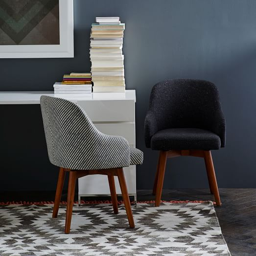 Saddle Swivel Office Chairs Upholstered Dining