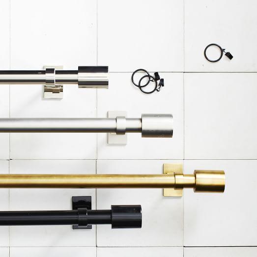 Curtains Ideas curtain rod adjustable : Oversized Adjustable Metal Rod | west elm