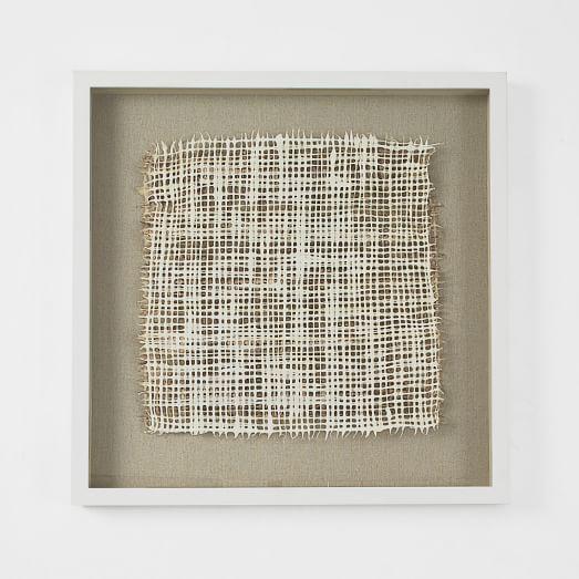 handmade paper wall art floating square white frame west elm