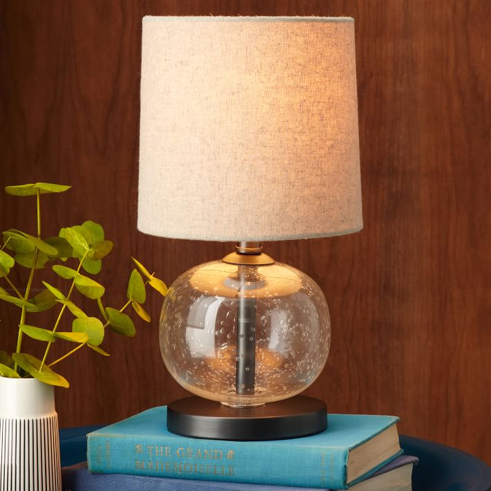 Mini Abacus Table Lamp - Clear   west elm:,Lighting