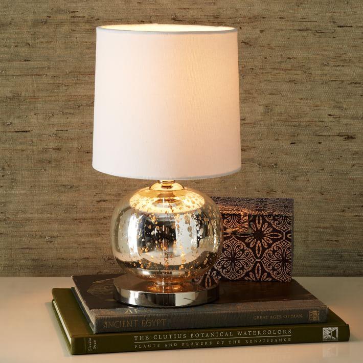 Mini Abacus Table Lamp - Mercury   west elm:,Lighting