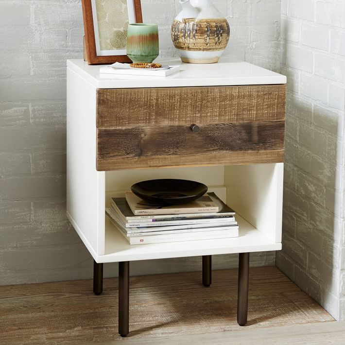 . Reclaimed Wood   Lacquer Nightstand   west elm