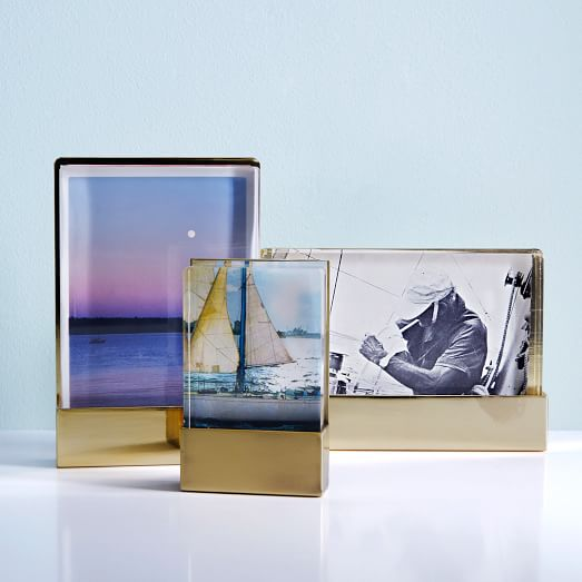 acrylic metal frames west elm