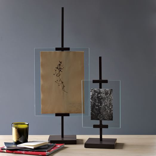 metal easel adjustable floating frames west elm