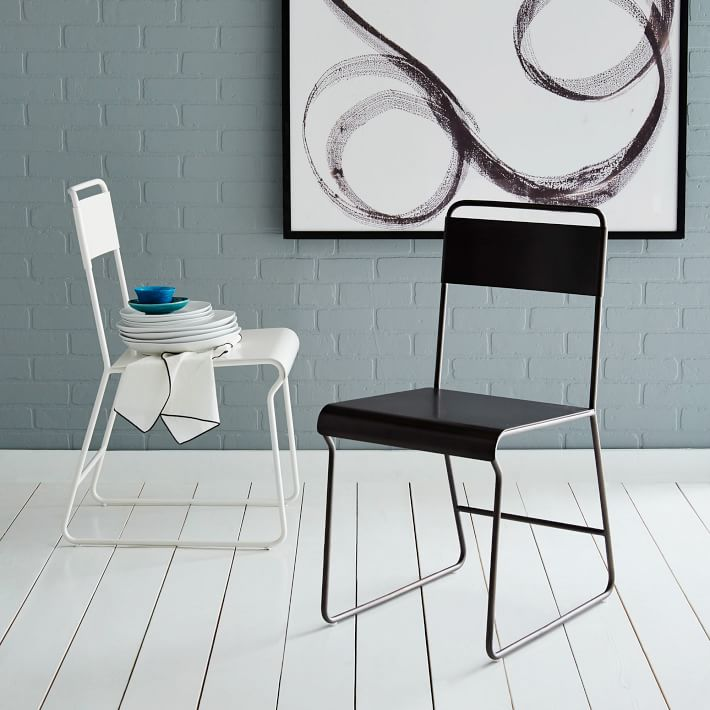 Bent Metal Dining Chair – Metal Frame Dining Chairs
