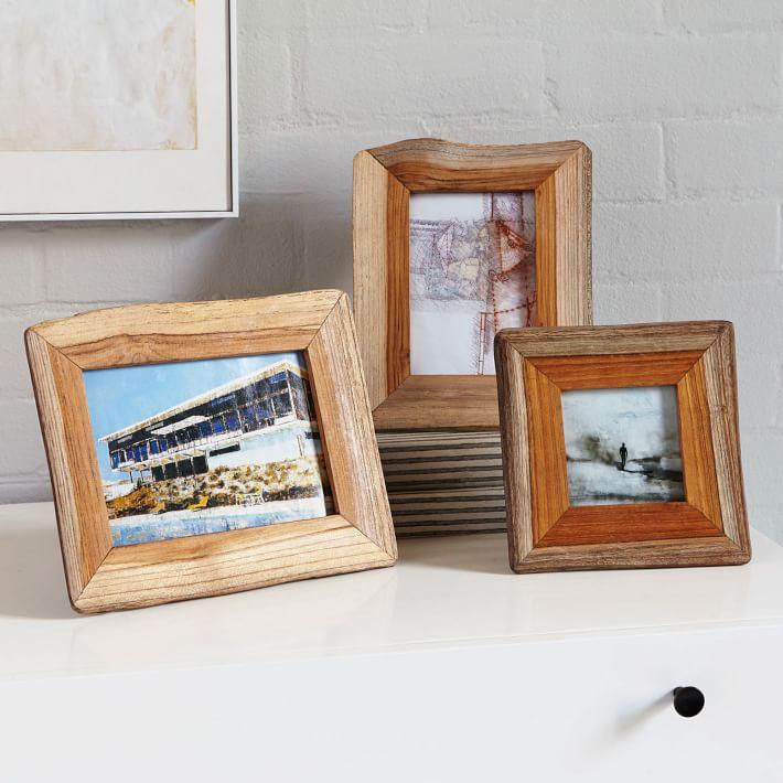 reclaimed wood frames west elm