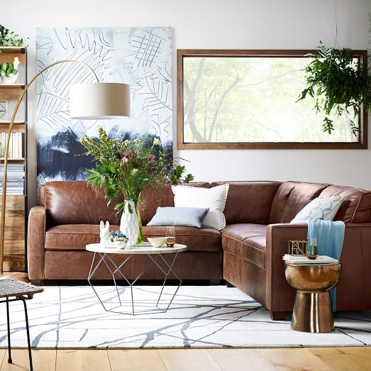 Henry® 3-Piece Sectional - Leather | West Elm