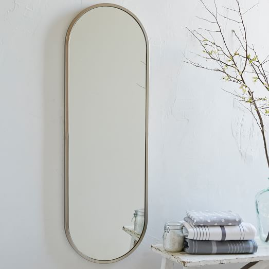 metal framed oval floor mirror west elm