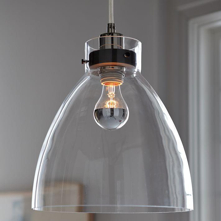 industrial pendant  glass  west elm, Kitchen design