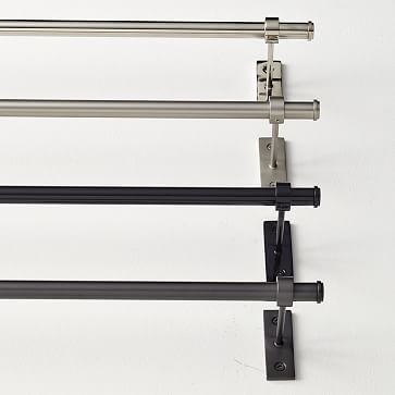 Curtains Ideas curtain rod adjustable : Industrial Pipe Adjustable Rods | west elm