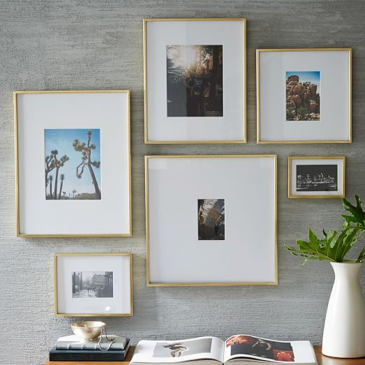 gallery frames polished brass west elm
