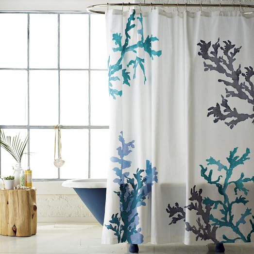 Curtains Ideas coral reef shower curtain : Coral Reef Shower Curtain | west elm