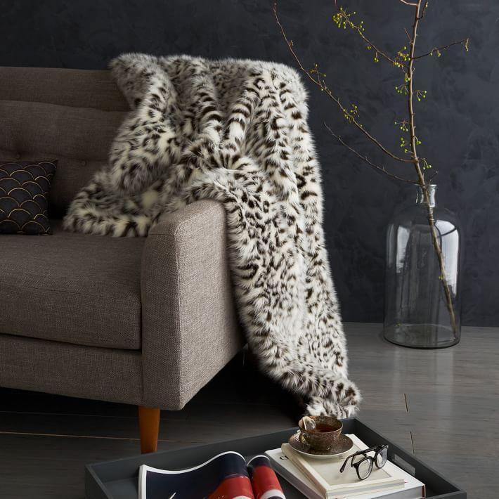 leopard throw rug