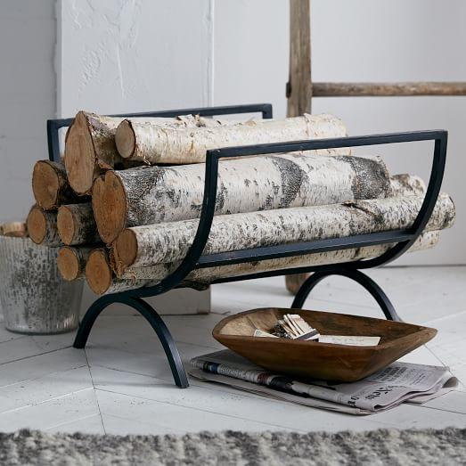 - Rings Fireplace Log Holder West Elm