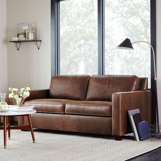 Henry 174 Leather Sofa Molasses West Elm