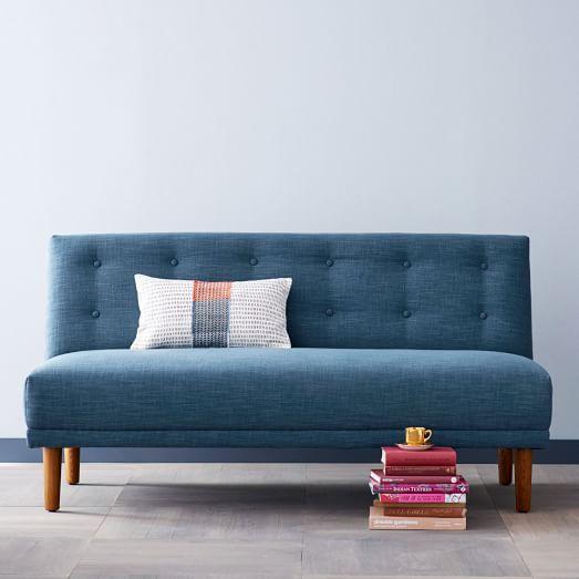 rounded retro armless sofa west elm. Black Bedroom Furniture Sets. Home Design Ideas