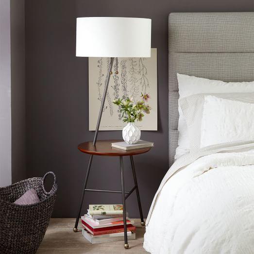 Standing Lamp With Table: ,Lighting