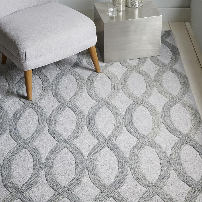 Hand Loomed Haiden Grey Wool Rug 8u0027 X
