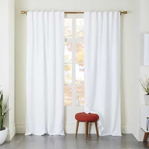 White Curtains black out white curtains : Belgian Flax Linen Curtain - White | west elm