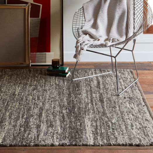 Sweater Wool Rug Charcoal West Elm