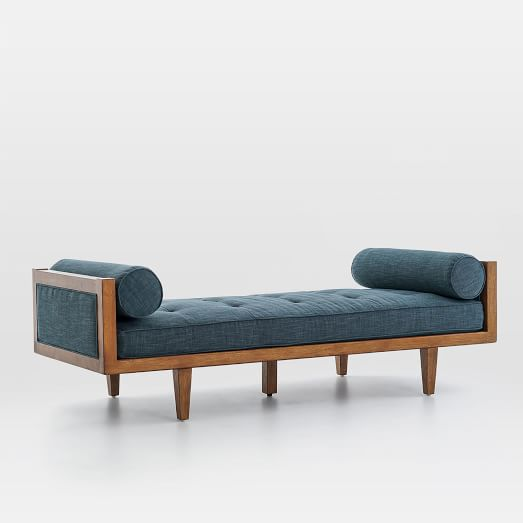 wood frame tufted daybed west elm