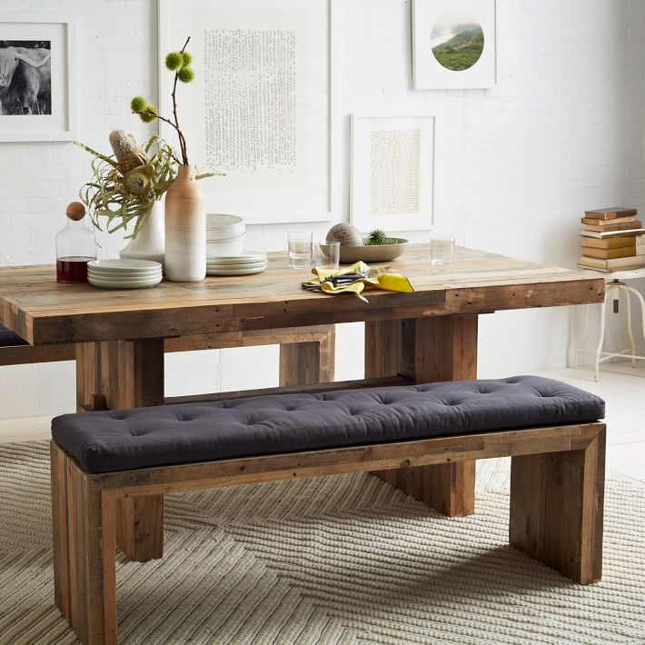 Long Wood Dining Table