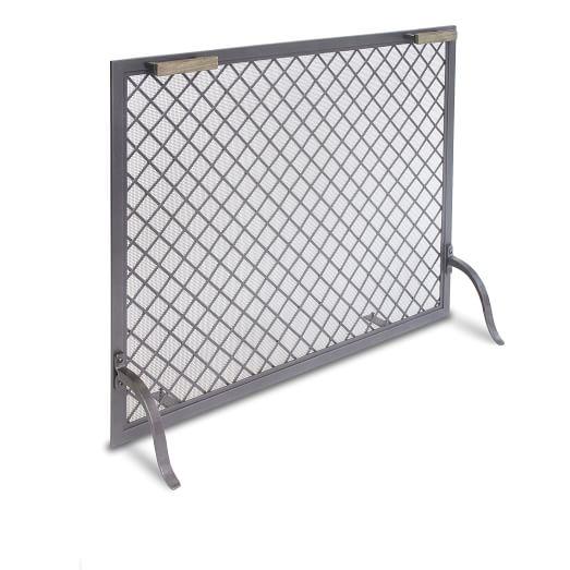 Single Panel Fireplace Screen, Iron - Single Panel Fireplace Screen - Iron West Elm